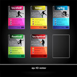 Set of sport banners and tags Stock Photography