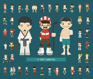 Set of 43 Sport characters Royalty Free Stock Images