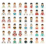 Set of sport characters Royalty Free Stock Image