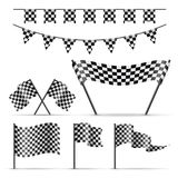Set of sport checkered flags Royalty Free Stock Image
