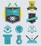 Set of Sport Club Retro Labels and Badge Royalty Free Stock Image