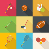 Set of sport equipment Royalty Free Stock Image