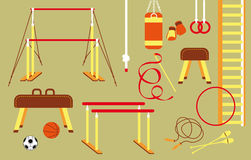 Set of sport equipment Stock Photo