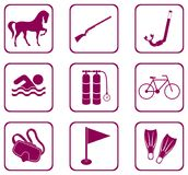 Set of sport equipment icons. Vector illustration Stock Photography