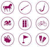 Set of sport equipment icons Royalty Free Stock Images