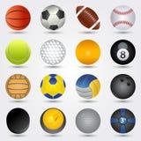 set sport för bolldesign dig Arkivbilder