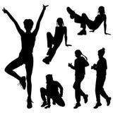 set sport för flickalottfolk Arkivbilder