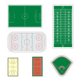 Set of sport fields,  illustration. Stock Image