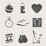 Set of sport and fitness Royalty Free Stock Image