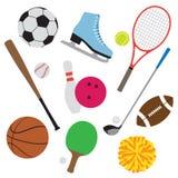 set sport för utrustning Arkivbilder