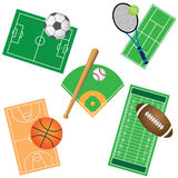 Set of sport games. Stock Photography
