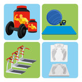 Set Of Sport And Gym Elements Royalty Free Stock Photos
