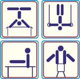 Set Sport gymnastic athlete. Vector icons. Set Sport gymnastic athlete. Vector Royalty Free Illustration