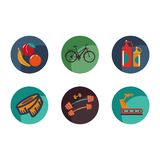Set of the sport and health icons. Vector Illustration Royalty Free Stock Photo