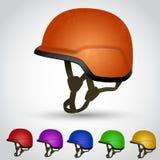 Set of sport helmet Stock Photography