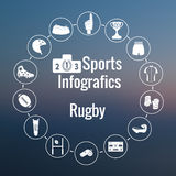Set of sport icon. American and australian Rugby. Stock Photo