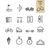 Set of sport icon. Royalty Free Stock Images
