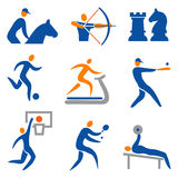 Set of  sport icons. Set of sport, fitness, colorful icons.Vector illustration Stock Photos