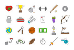 Set of sport  icons. Set of 24 sport  icons Royalty Free Stock Photos
