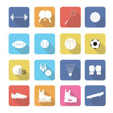 Set of  sport icons in flat design Stock Photo
