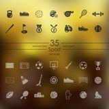 Set of sport icons Royalty Free Stock Photography