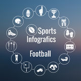 Set of sport icons, signs and symbols. Royalty Free Stock Photography