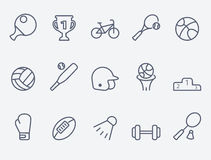 Set of 15 Sport icons. Sport icons. thin lines. Flat design Stock Image