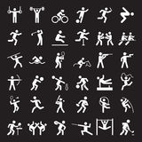 Set of sport icons. Vector illustration Royalty Free Stock Image