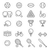 Set of sport icons. Royalty Free Stock Images