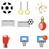 Set sport ikony na białym tle Zdjęcie Royalty Free