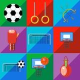 Set sport ikony na brzmienia tle Fotografia Royalty Free