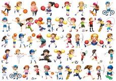 Set of sport kids vector illustration