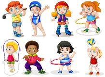 Set of sport kids