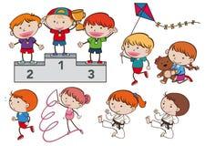 A Set of Sport Kids royalty free illustration