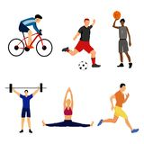 Set of sport men. Vector. stock illustration
