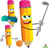 Set of sport pencils Royalty Free Stock Image