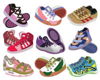 Set of sport shoes Stock Photos