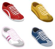 Set sport shoes, sneakers. Vector Stock Photography