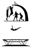 Set of sport silhouettes Royalty Free Stock Photography