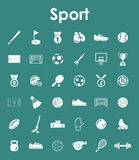 Set of sport simple icons Royalty Free Stock Image