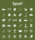 Set of sport simple icons Stock Photo