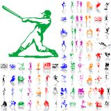 Set of sport sketches. Part 2. Royalty Free Stock Photo