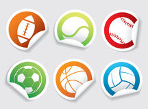 Set of sport stickers Royalty Free Stock Image