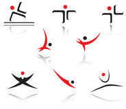 Set of sport symbols Stock Photo