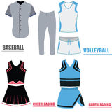 Set of sport uniforms Stock Photo