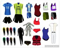 Set of Sport Waers on White Background Royalty Free Stock Photo