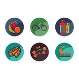 Set sporta i zdrowie ikony Zdjęcie Royalty Free