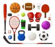 Set sporta wyposażenie Obrazy Stock