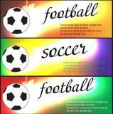 Set Sportfahnen Satz Fahnen des Fußballs (Fußball) Lizenzfreie Stockfotografie