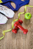 Set for sports activities Royalty Free Stock Images